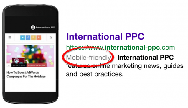 Mobile-friendly label Google