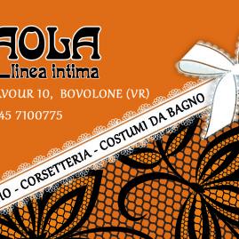Biglietto da visita per negozio Paola Linea Intima
