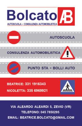 Biglietto da visita per agenzia pratiche auto – autoscuola Bolcato