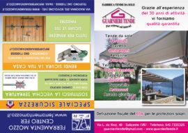 Pieghevole A5 chiuso/Volantino doppio Ferramenta Mozzo/Guarnieri Tende