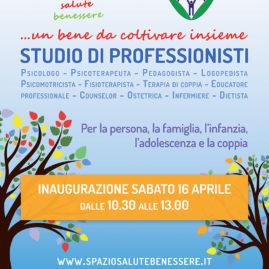 """Manifesto 70×100 cm per inaugurazione """"Spazio Salute Benessere"""""""