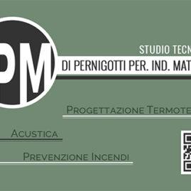 Biglietto da visita per lo Studio Tecnico Pm Solutions