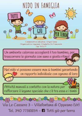 """Volantino A5 per il nido in famiglia """"I Mille Colori dei Fiori"""""""